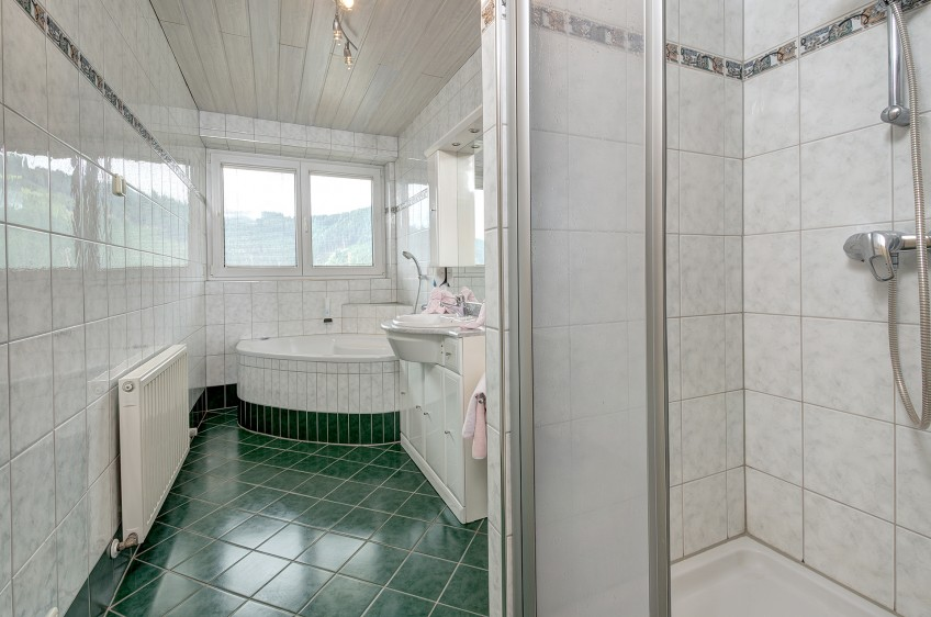 Jaga Alm Appartement Panoramablick Badezimmer