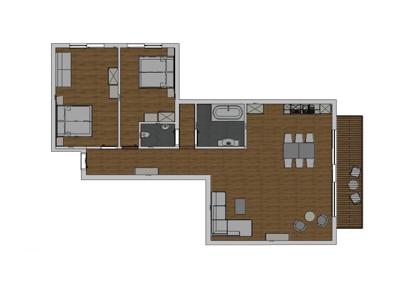 Jaga-Alm Appartement Seeblick Zirbe Skizze