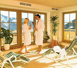 Wellnessbereich im Berghotel