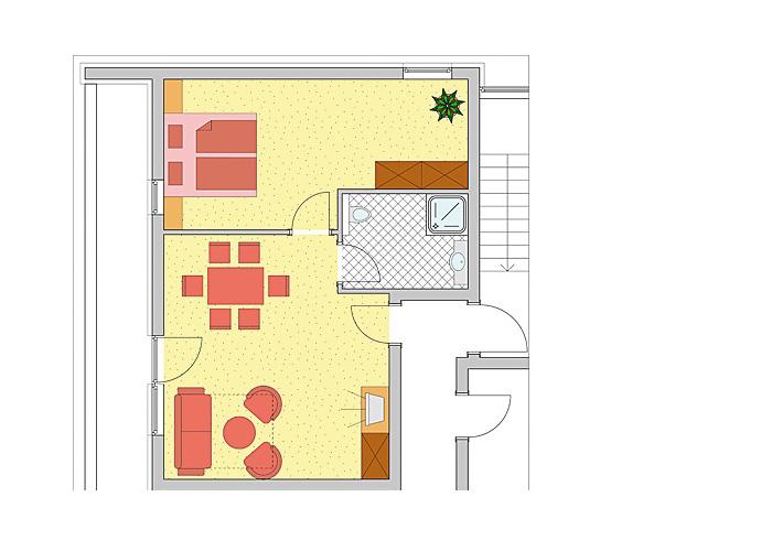 Grundriss Appartement Sonnalm