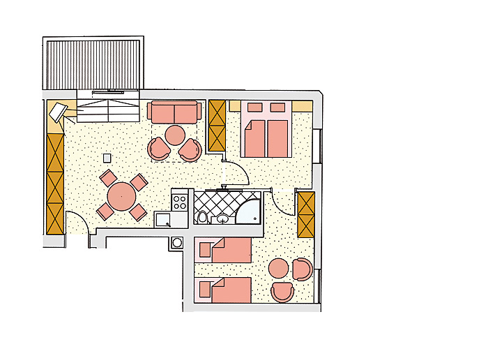 Grundriss Appartement Jaga-Alm